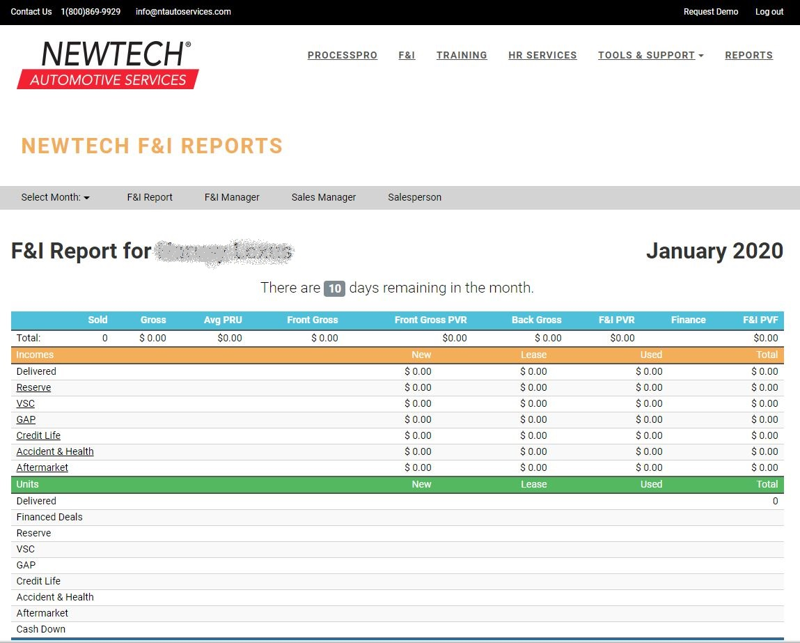 Customer portal reporting image